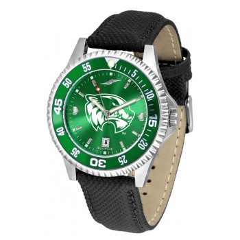 Utah Valley University Wolverines Mens Watch - Competitor Anochrome Colored Bezel Poly/Leather Band