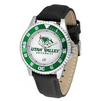 Utah Valley University Wolverines Mens Watch - Competitor Poly/Leather Band