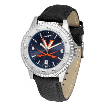 University Of Virginia Cavaliers Mens Watch - Competitor Anochrome Poly/Leather Band