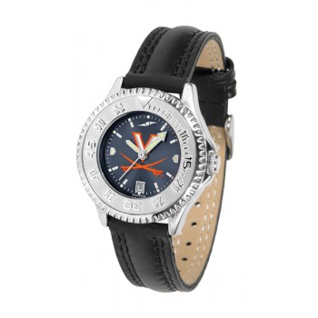 University Of Virginia Cavaliers Ladies Watch - Competitor Anochrome Poly/Leather Band