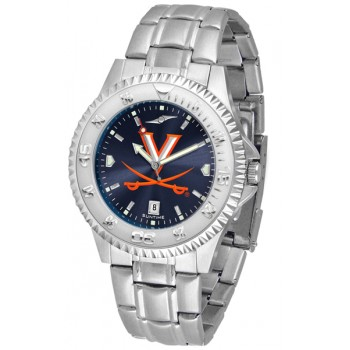 University Of Virginia Cavaliers Mens Watch - Competitor Anochrome Steel Band