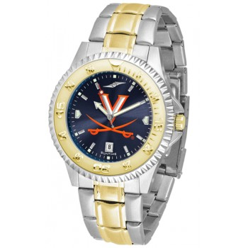 University Of Virginia Cavaliers Mens Watch - Competitor Anochrome Two-Tone