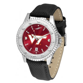 Virginia Tech Hokies Mens Watch - Competitor Anochrome Poly/Leather Band