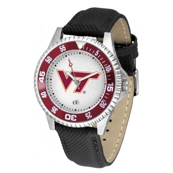 Virginia Tech Hokies Mens Watch - Competitor Poly/Leather Band