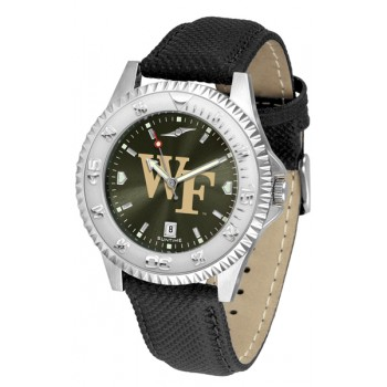 Wake Forest University Demon Deacons Mens Watch - Competitor Anochrome Poly/Leather Band