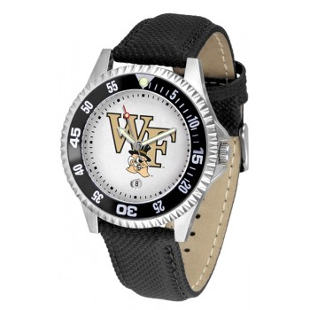 Wake Forest University Demon Deacons Mens Watch - Competitor Poly/Leather Band