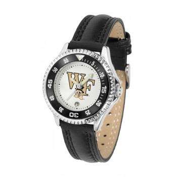 Wake Forest University Demon Deacons Ladies Watch - Competitor Poly/Leather Band