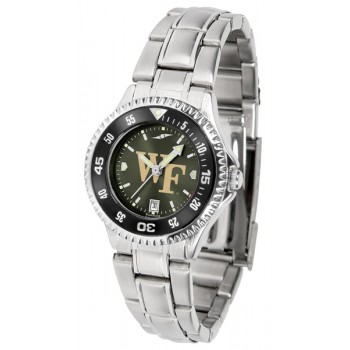 Wake Forest University Demon Deacons Ladies Watch - Competitor Anochrome - Colored Bezel - Steel Band