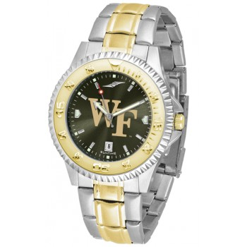 Wake Forest University Demon Deacons Mens Watch - Competitor Anochrome Two-Tone
