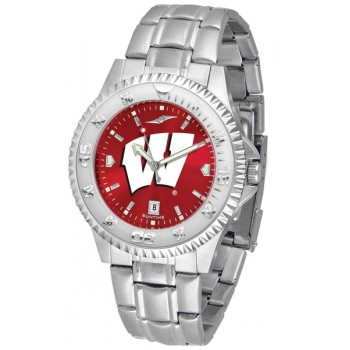 University Of Wisconsin Badgers Mens Watch - Competitor Anochrome Steel Band