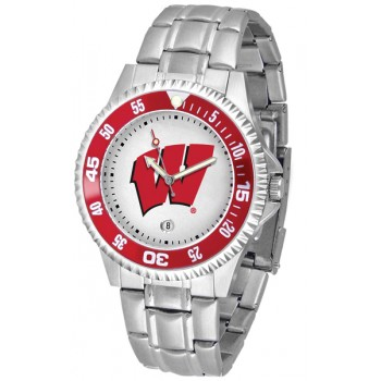 University Of Wisconsin Badgers Mens Watch - Competitor Steel Band