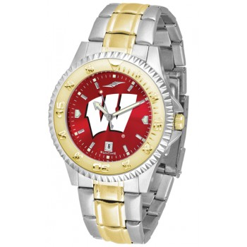 University Of Wisconsin Badgers Mens Watch - Competitor Anochrome Two-Tone