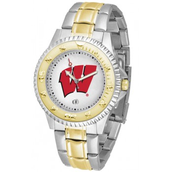 University Of Wisconsin Badgers Mens Watch - Competitor Two-Tone