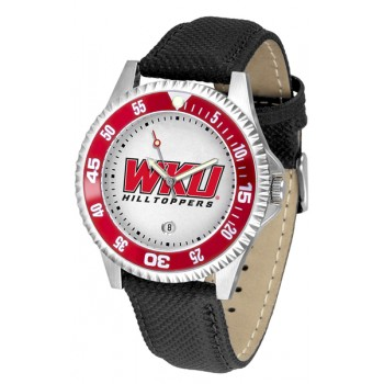 Western Kentucky Hilltoppers Mens Watch - Competitor Poly/Leather Band