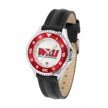 Western Kentucky Hilltoppers Ladies Watch - Competitor Poly/Leather Band