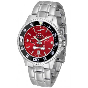 Western Kentucky Hilltoppers Mens Watch - Competitor Anochrome - Colored Bezel - Steel Band