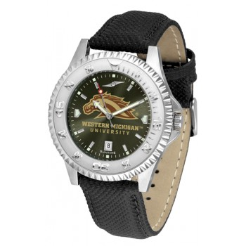 Western Michigan University Broncos Mens Watch - Competitor Anochrome Poly/Leather Band