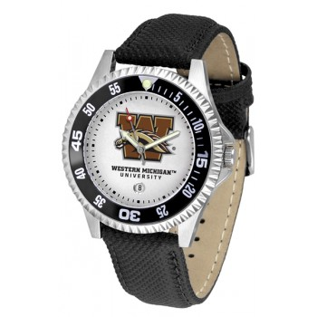 Western Michigan University Broncos Mens Watch - Competitor Poly/Leather Band