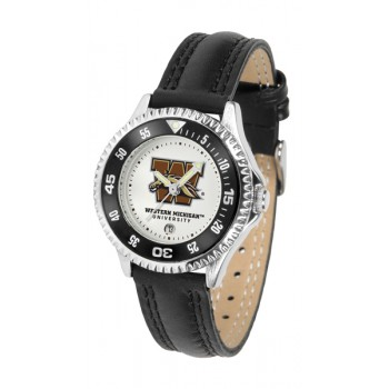 Western Michigan University Broncos Ladies Watch - Competitor Poly/Leather Band