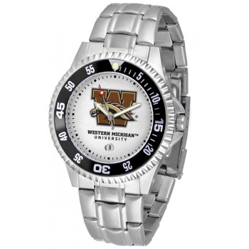 Western Michigan University Broncos Mens Watch - Competitor Steel Band
