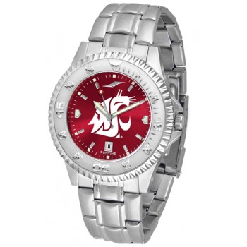 Washington State University Cougars Mens Watch - Competitor Anochrome Steel Band