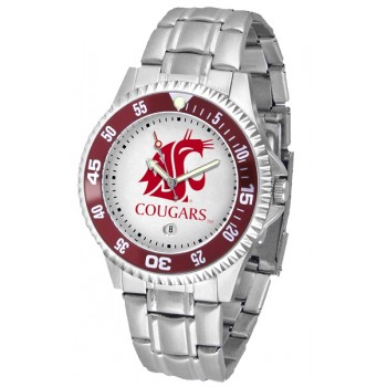 Washington State University Cougars Mens Watch - Competitor Steel Band