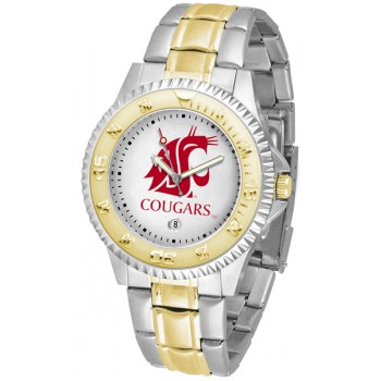 Washington State University Cougars Mens Watch - Competitor Two-Tone