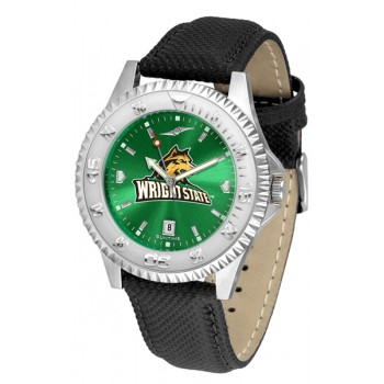 Wright State University Raiders Mens Watch - Competitor Anochrome Poly/Leather Band