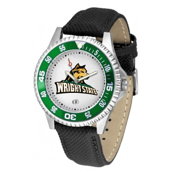 Wright State University Raiders Mens Watch - Competitor Poly/Leather Band