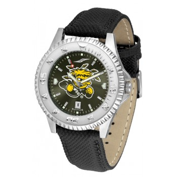 Wichita State University Shockers Mens Watch - Competitor Anochrome Poly/Leather Band