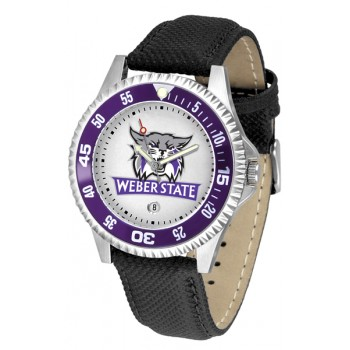 Weber State University Wildcats Mens Watch - Competitor Poly/Leather Band