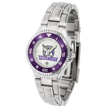 Weber State University Wildcats Ladies Watch - Competitor Steel Band