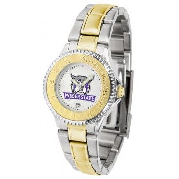 Weber State University Wildcats Ladies Watch - Competitor Two-Tone