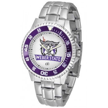 Weber State University Wildcats Mens Watch - Competitor Steel Band