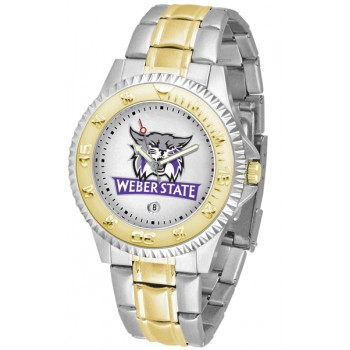 Weber State University Wildcats Mens Watch - Competitor Two-Tone
