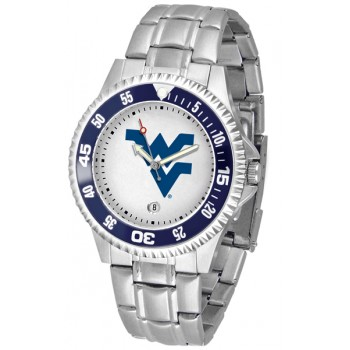 West Virginia University Mountaineers Mens Watch - Competitor Steel Band