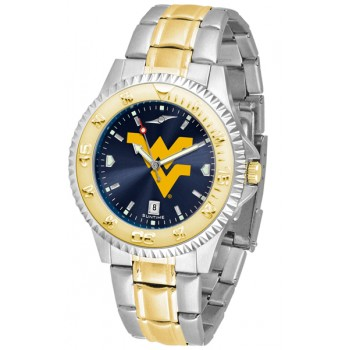 West Virginia University Mountaineers Mens Watch - Competitor Anochrome Two-Tone