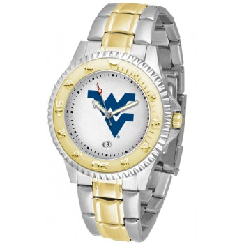 West Virginia University Mountaineers Mens Watch - Competitor Two-Tone