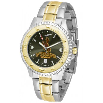 University Of Wyoming Cowboy Joe Mens Watch - Competitor Anochrome Two-Tone
