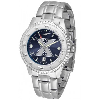 Xavier University Musketeers Mens Watch - Competitor Anochrome Steel Band
