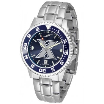 Xavier University Musketeers Mens Watch - Competitor Anochrome - Colored Bezel - Steel Band