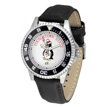 Youngstown State University Penguins Mens Watch - Competitor Poly/Leather Band