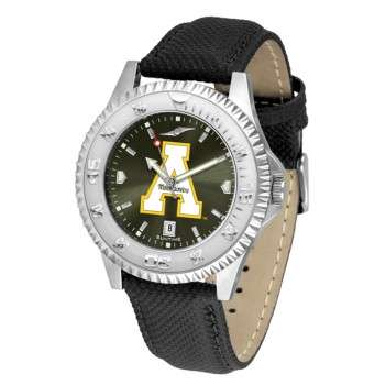 Appalachian State University Mountaineers Mens Watch - Competitor Anochrome Poly/Leather Band