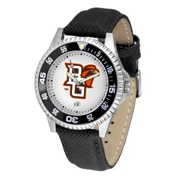 Bowling Green State University Falcons Mens Watch - Competitor Poly/Leather Band