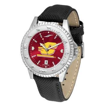 Central Michigan University Mens Watch - Competitor Anochrome Poly/Leather Band