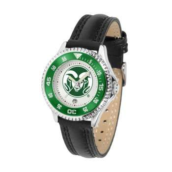 Colorado State University Rams Ladies Watch - Competitor Poly/Leather Band