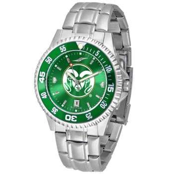 Colorado State University Rams Mens Watch - Competitor Anochrome - Colored Bezel - Steel Band