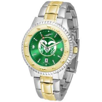 Colorado State University Rams Mens Watch - Competitor Anochrome Two-Tone
