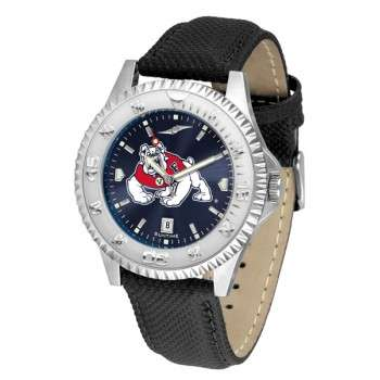 Fresno State Bulldogs Mens Watch - Competitor Anochrome Poly/Leather Band