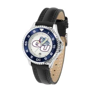 Gonzaga University Bulldogs Ladies Watch - Competitor Poly/Leather Band